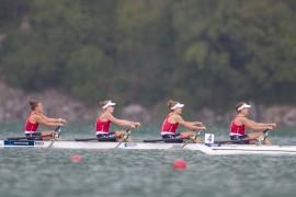 Vrouwendubbelvier wint brons