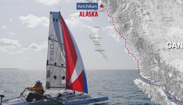 Racen naar Alaska in een roeiboot