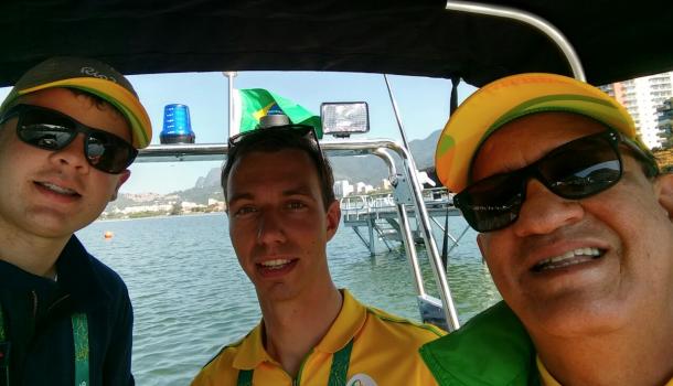 Allard Katstra: vrijwilliger aan de baan in Rio