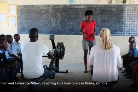 Olympisch skiffkampioen Brennan geeft ergometerles in Zambia