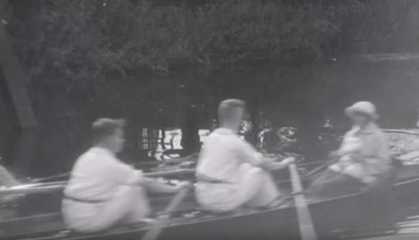 Uniek Zwols filmpje uit 1924 duikt op, roeiers in beeld