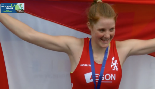 Isabel van Opzeeland (16) wint brons voor Nederland