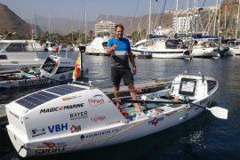 Oceaanroeier Slats ruim onder schema wereldrecord