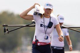 WK18: vrouwenvier en lichte skiff door, vrouwentwee gestrand