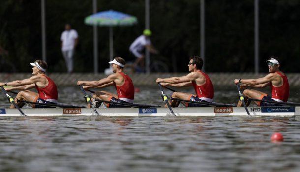 WK18 Vier boten naar de A-finales, mannenquadruple en lichte vrouwen ijzersterk
