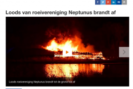 Loods van Neptunus  afgebrand