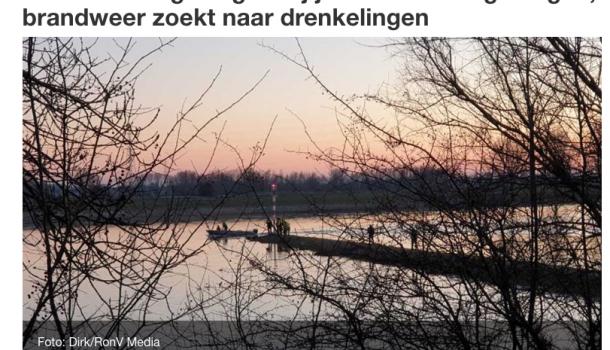 [update 20:40 u] Vadaleden ooggetuigen: 'Roeiboot omgeslagen, mogelijk vier vermisten'
