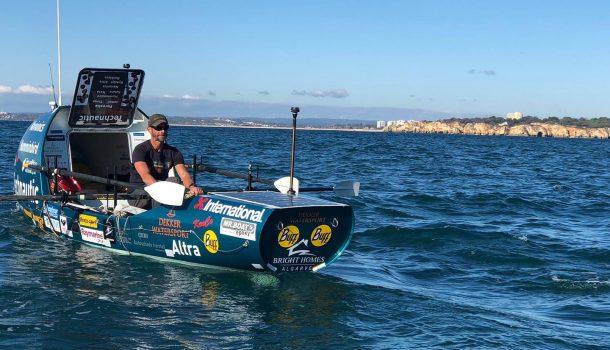 Ralph Tuijn doet een bijna routineuze recordpoging over de oceaan
