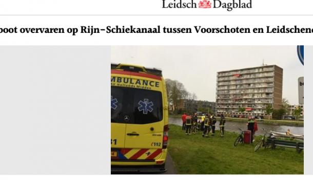 [update 17.30 u] Roeier Rijnland liep hoofdwond op bij aanvaring