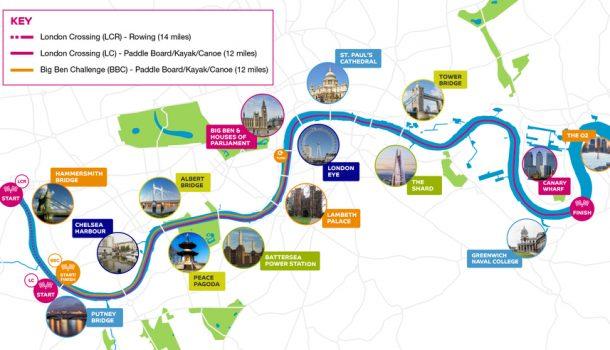 River Thames dag vrijgemaakt voor roei- en watersport