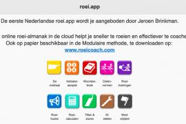 Roei.app biedt veel informatie, over roeien