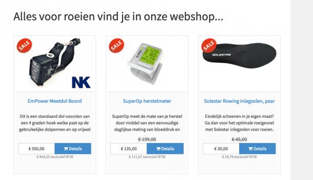 [promotie] Sint hoeft niet lang te denken…Roeigoed.nl!