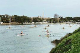 Luuk Adema snelste skiffeur in spits van Sevilla
