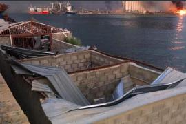 Ook roeicentrum van Beirut in puin