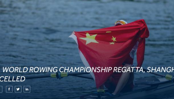 World Rowing schrapt WK in Shanghai